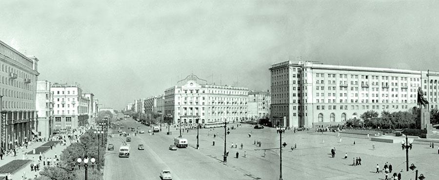 Площадь Революции в Челябинске, 1960 год