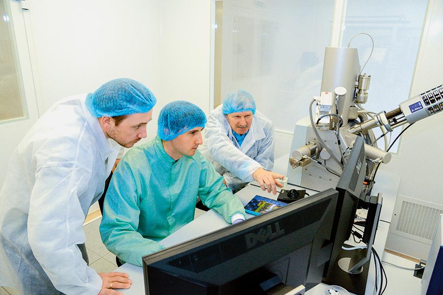 Работа на сканирующем электронном микроскопе